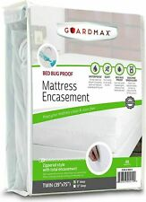 Guardmax Bed Bug Mattress Protector Cover Zippered | 100% Waterproof Encasement