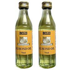 L'huile d'amande douce pour la cuisson ou l'usage cosmétique - 2 x 70ml bouteilles-Cloches