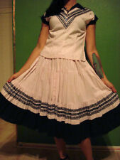 "Vintage 1950's ""Indian Store"" Western Mexican Circle Skirt Set Vlv Rockabilly S"