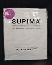 Supima, 400 TC, 100% Supima Cotton, Full, Bright White Sheet Set