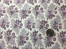 1 Yd Purple Lavender Floral American Classics Marcus Brothers Quilting Fabric