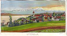 Ammersee Utting ORIG. guazzo FIRMATO H. Lütz 1960