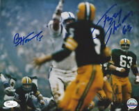 PACKERS Paul Hornung & Fuzzy Thurston signed 8x10 photo JSA COA AUTO Autographed