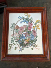 Kathy R. Crowther - Original Ink / Watercolor - 'Flowers' - Framed