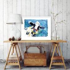 Blue Contemporary Art Animals Art Prints