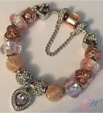 Ciondoli di lusso rosa placcato argento