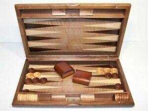 """Dal Rossi 19"""" Walnut Burl Backgammon Set"""