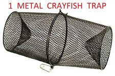 METAL CRAYFISH TRAPS LIVE BAIT EEL SHRIMP PRAWN FISH CRAB DROP CAGE NET POT