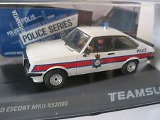 TEAM SLOT SRE14 FORD ESCORT MKll RS 2000 'POLICE'  1/32 SCALE  SCALEXTRIC COMP