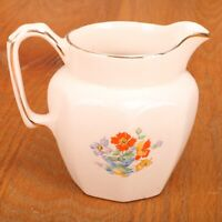Price Bros White Flower Pattern Creamer Made in England Ceramic
