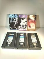 Lot of 3 vintage Star Wars 1995 and 1997 VHS Tapes THX Mastered *Free Shipping*