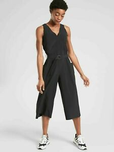 ATHLETA Sarasota Jumpsuit NWT - XS PETITE Black $148. #531180