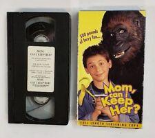 New Horizons VHS Mom, Can I Keep her? 2000 Rare Screening Copy Alana Stewart HTF