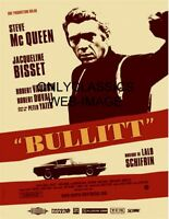 1968 DETECTIVE COP STEVE MCQUEEN BULLITT FORD MUSTANG GT CAR 8.5X11 MOVIE POSTER