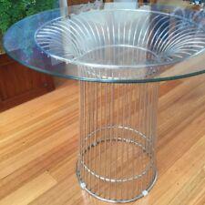 Small Modern Round Glass Table Replica