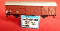 Märklin 4700 Gedeckter Güterwagen Glmhs 50 der DB braun 2-achs neuwertig in OVP