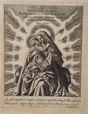 Madone à l'enfant, gravure sur cuivre de Karel van Mallery, vers 1616