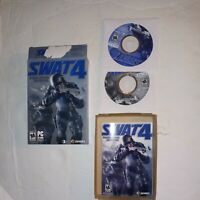 SWAT 4 Special Weapons and Tactics (PC, 2005) COMPLETE with Manuals