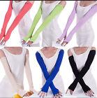 1pair  Women Cotton UV Protection Arm Warmer Long Fingerless Gloves Sleeve
