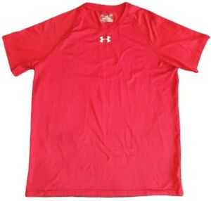 under armour mens crew neck t shirt training fitness sports wear red size s