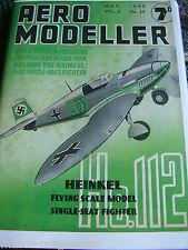 AEROMODELLER 1940 MAY 54TH  ISSUE FACSIMILE MODEL AIRCRAFT AVIATION