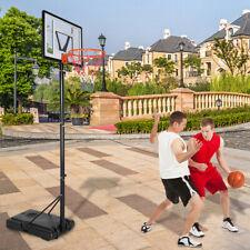 "Portable Basketball Hoop Goal Adjustable Height 35"" Backboard Pole Outdoor Sport"