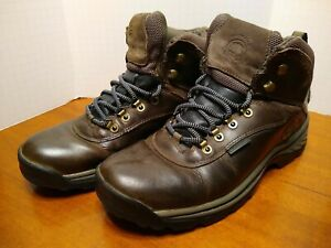 Timberland MEN'S size 10 WHITE LEDGE MID WATERPROOF HIKING BOOTS 12135 Brown EUC