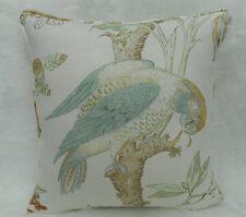 Lee Jofa Fabric Cushion Cover 'Somerfield' Gold/Lake - Linen Blend