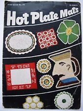 VINTAGE CROCHET for the DINER - HOT PLATE MATS AMERICAN THREAD Co. 1950