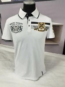 BRUNO BANANI   Herren Polo Shirt   Not For Everybody   BBP11   weiß-gold   M
