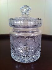 Fifth Avenue Crystal, Crystal Clear, Jelly Jar, Covered Candy Dish