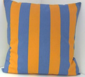 CUSHION COVERS IKEA BOLD BLUE & BOLD ORANGE FABRIC CUSHION COVERS