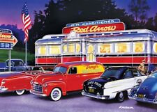 Jigsaw puzzle Americana Dinner at the Red Arrow Diner 1000 piece NEW