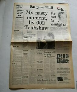 DAILY MAIL NEWSPAPER - 10 APRIL 1969 - CONCORDE AIRCRAFT etc