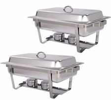 2 Pack of 8 Qt Stainless Steel Restaurant Catering, Buffet, Wedding Chafing Dish