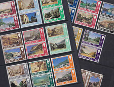 Gibraltar 1971-75 Mint MNH Full Set Definitives Decimal Currency Scenes Pairs