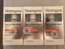 Neutrogena Rapid Wrinkle Repair Moisturizer W/ Broad Spectrum SPF 30~1 oz-3 Box