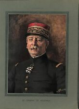 WWI Portrait Couleur Général Louis Ernest de Maud'huy Saint-Cyr ILLUSTRATION