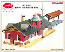 Generic Station Depot Shed Model Rr Layout Kit Ho 1:87 by Model Power