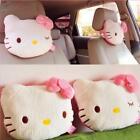2pcs Cute Hello Kitty Auto Car Neck Pillow Soft Plush Headrest Seat Pillows Pink