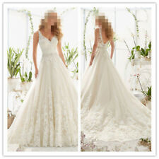 e018NEW White/Ivory Satin Wedding dress Bridal Gown Custom Size 4 6 8 10 12+++