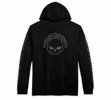 Harley-Davidson® Men's Zip Hoodie Willie G Skull Black 96173-21VM