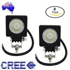2x 10W CREE LED Work Light Bar Flood OffRoad Driving Reverse 4x4 Ford Lamp AU