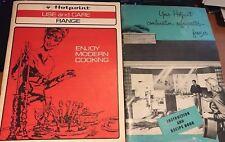 2 Vintage Hotpoint refrigerator-freezer instruction and recipe book & Range