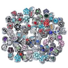 30pcs Rhienstone Mix Style Charms Locket Snap-It Chunk Button For Snap Button