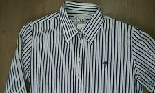 Lilly Pulitzer Shirt 8 Womens Button Down Long Sleeve Blouse Striped Blue White