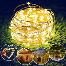 LED Solar String Lights Waterproof Copper Wire Fairy Outdoor Garden Xmas Party