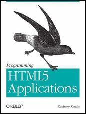 Programming HTML5 Applications: Building Powerful Cross-Platform Environments i