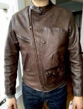 RRL Ralph Lauren Calfskin Leather Jacket Cowboy X-Large Brown VTG Ranch Morrow