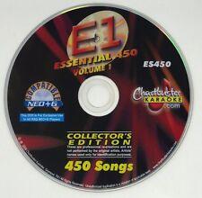 CHARTBUSTER KARAOKE ESSENTIAL 450 VOLUME 1 ES450 COLLECTOR'S EDITION NEO+G !RARE